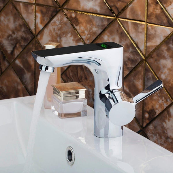 Digital Display Temperature Sensor Faucet Digital Display Temperature Sensor Faucet fluxurie.com