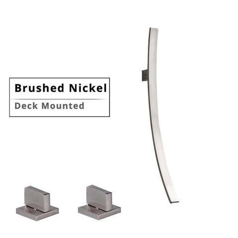 Modern Designer 27.5 inch Wall Mount Waterfall Faucet FLUXURIE.COM Deck Brushed Nickel China