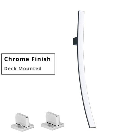 Modern Designer 27.5 inch Wall Mount Waterfall Faucet FLUXURIE.COM Deck Mounted Chrome China