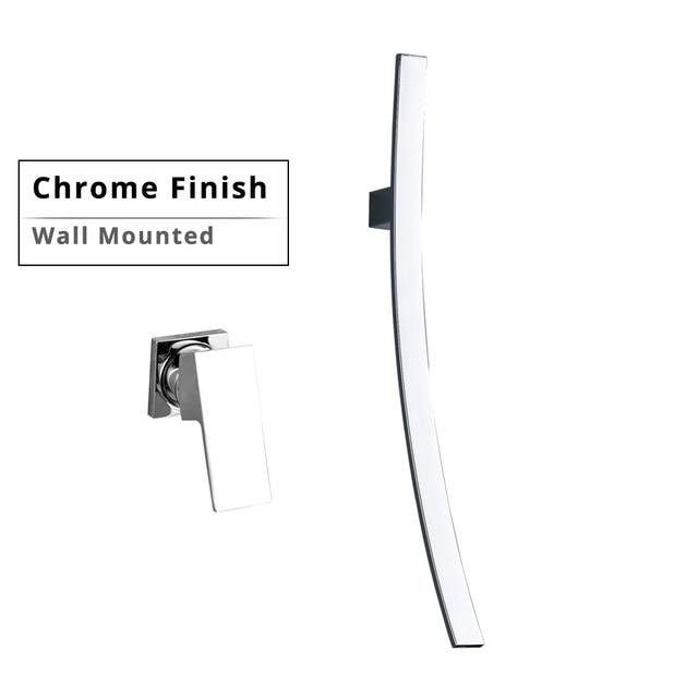 Modern Designer 27.5 inch Wall Mount Waterfall Faucet FLUXURIE.COM Wall Mounted Chrome China