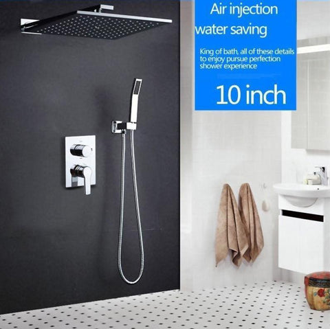 Rain Shower Set System 10 inch with Air Injection - ELIDE Elide FLUXURIE.COM