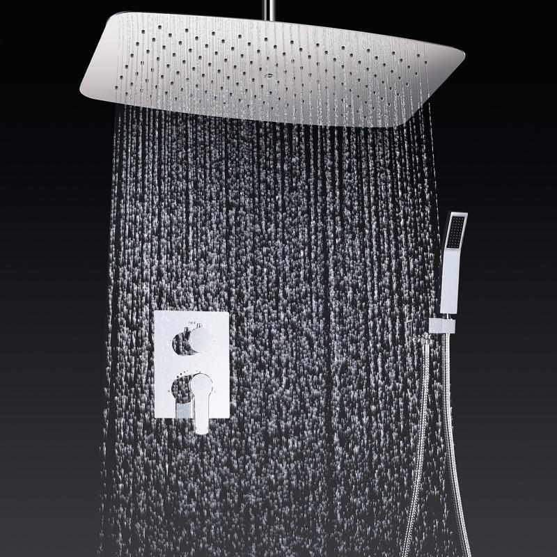 "Rain Shower Set System 22"" x 14"" with Air Injection and Smart Mixer - VALVA Valva FLUXURIE.COM"