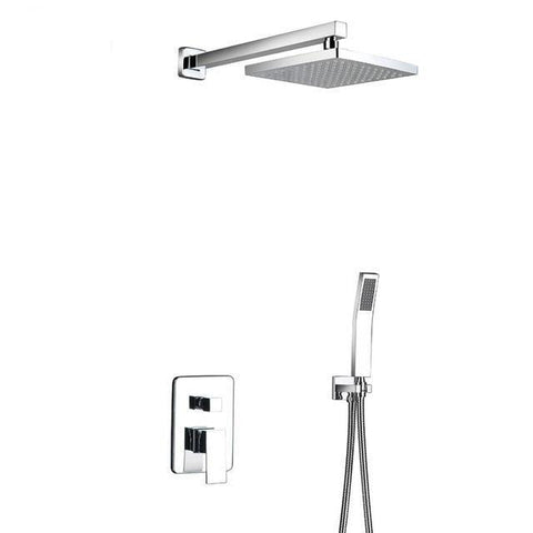 "Rain Shower Set System 8"" - 12"" in Chrome with Thermostatic Smart Mixer - CARA Cara FLUXURIE.COM ABS 8"""