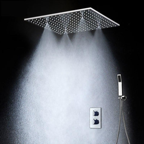 Rain / SPA Mist 20 Inches Shower Set System with LED - Forino Forino FLUXURIE.COM