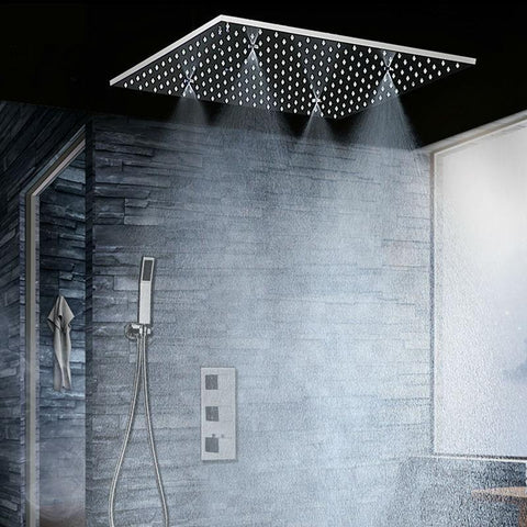 Rain / SPA Mist Shower Set System 20 inch with Thermostatic Mixer - ILVA Ilva FLUXURIE.COM
