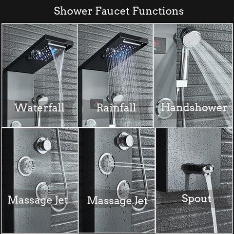 Rain / Waterfall Shower Panel with Body Sprays - BELINDA Belinda FLUXURIE