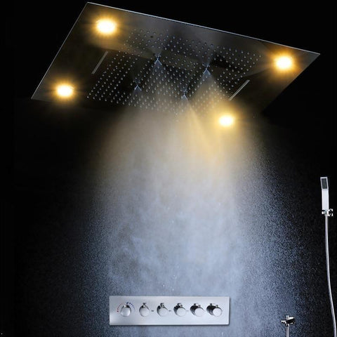 "Rain / Waterfall / SPA Mist / Rain Curtain 31"" x 24"" with Remote Controlled LED - <i>Amalia</i> Amalia FLUXURIE.COM"