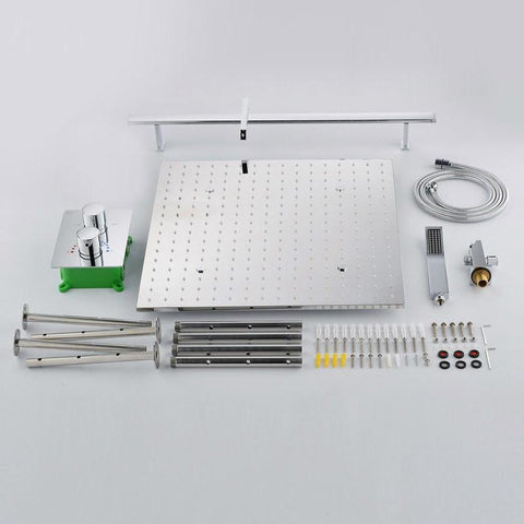 Rainfall / Mist 20 Inch Ceiling Mount Spa Shower System - NIVA Niva FLUXURIE.COM
