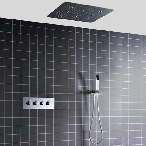 Rainfall / Mist Spray LED Spa 20 Inch Shower System - Iona Rainfall / Mist Spray LED Spa 20 Inch Shower System FLUXURIE.COM