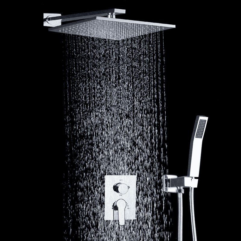 Rainfall Shower System 10 inch with Air injection Technology - Leandra 10'' Rainfall Shower System with Air injection Technology fluxurie.com