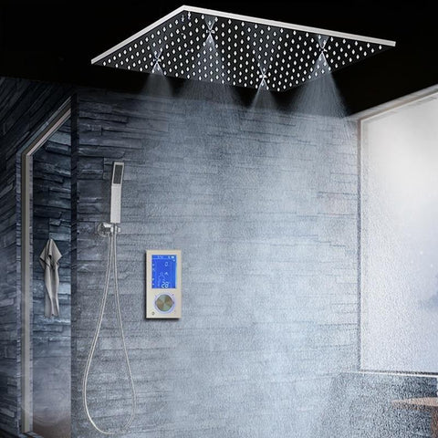 Rainfall / SPA Mist 20 Inch Shower Set System with Digital Display Touch Panel - <i>Eliana</i> Rainfall / SPA Mist 20 Inch Shower Set System with Digital Display Touch Panel - <i>Eliana</i> FLUXURIE.COM