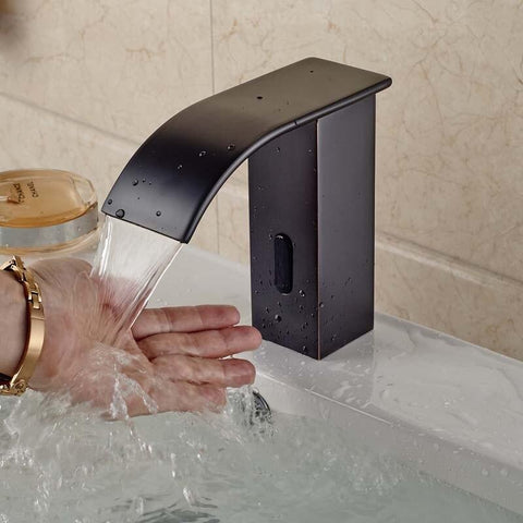 Sensor Faucet with Automatic Hand Touchless Tap & Hot Cold Mixer / Polished Chrome FLUXURIE.COM