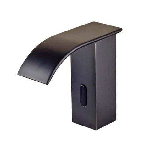 Sensor Faucet with Automatic Hand Touchless Tap & Hot Cold Mixer / Polished Chrome FLUXURIE.COM Black Bronze