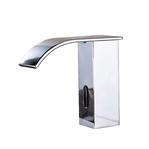 Sensor Faucet with Automatic Hand Touchless Tap & Hot Cold Mixer / Polished Chrome FLUXURIE.COM Chrome
