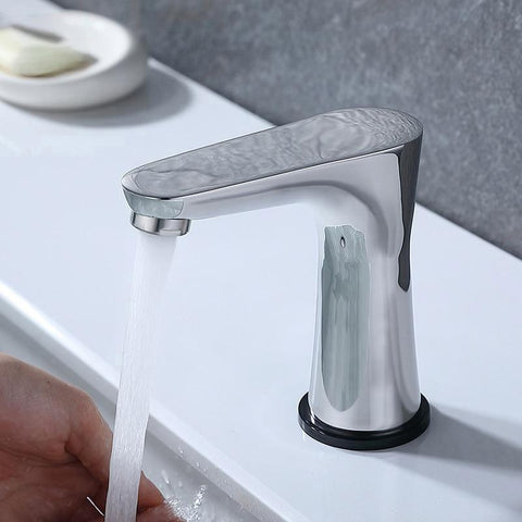 Smart Touch Switch Water Basin Faucet / New Design in Chrome, Brushed Nickel FLUXURIE.COM