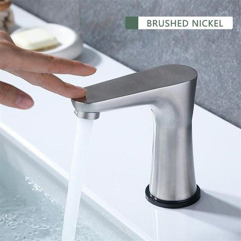 Smart Touch Switch Water Basin Faucet / New Design in Chrome, Brushed Nickel FLUXURIE.COM Brushed Nickl