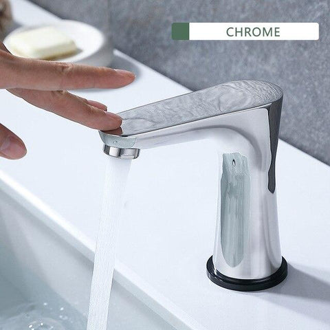 Smart Touch Switch Water Basin Faucet / New Design in Chrome, Brushed Nickel FLUXURIE.COM Chrome