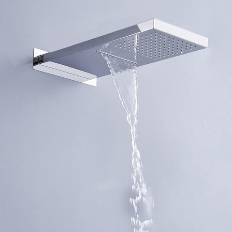 Switchable Rain- / Waterfall Shower Head Ceiling mounted Switcheabele Rain- / Waterfall Shower Head Ceilingmounted FLUXURIE.COM
