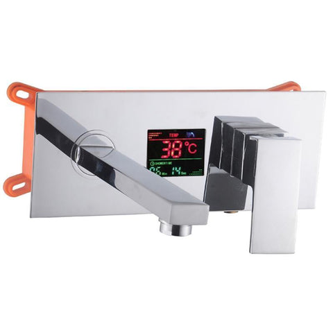 Temperature Display Long Nose Spout single handle Bathroom Faucet Temperature Display Long Nose Spout single handle Bathroom Faucet fluxurie.com