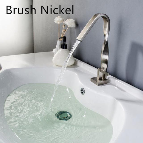 Twist chrome bathroom Faucet Twist chrome bathroom Faucet fluxurie.com A Brush