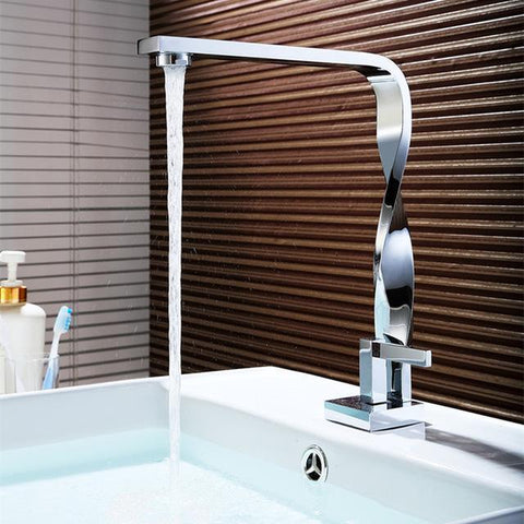Twist chrome bathroom Faucet Twist chrome bathroom Faucet fluxurie.com B