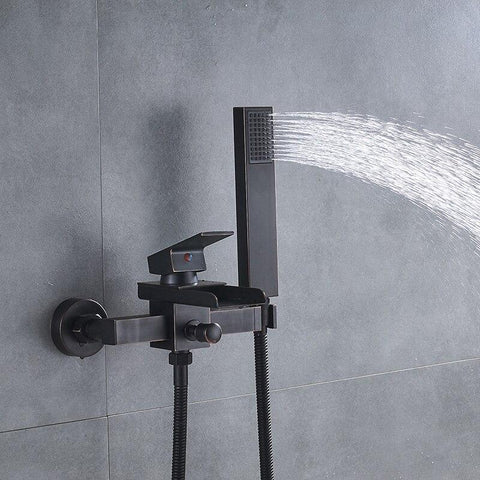 Wall Mount Classic Oil Rubbed Bronze Tub Faucet- ABRAXAS Abraxas FLUXURIE.COM
