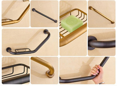 Wall Mounted Helping Handle Bars for Bathtub Safety FLUXURIE.COM