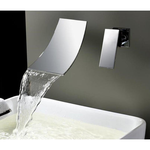 Wall Mounted Waterfall Bathroom Faucet Wall Mounted Waterfall Bathroom Faucet fluxurie.com