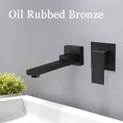 Wall Mounted Waterfall Bathroom Faucet Wall Mounted Waterfall Bathroom Faucet fluxurie.com Black Long nose