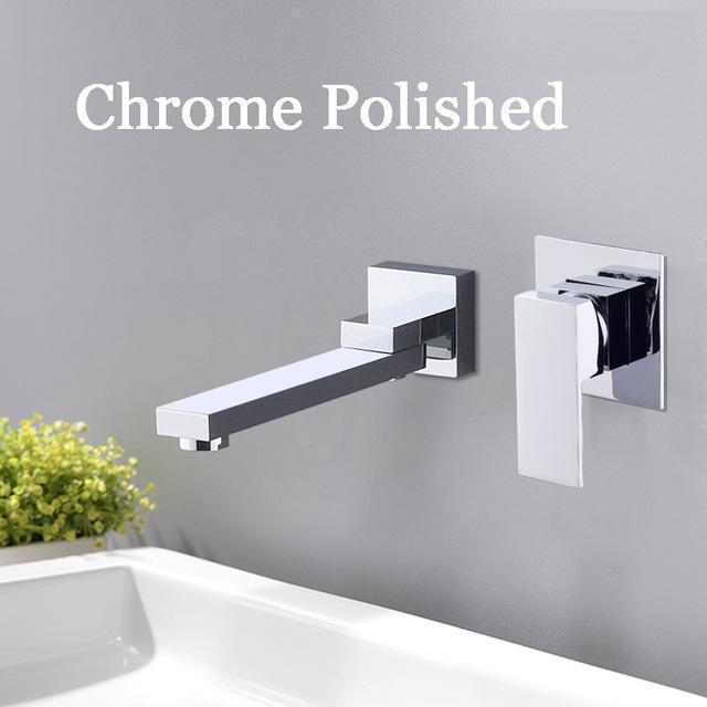 Wall Mounted Waterfall Bathroom Faucet Wall Mounted Waterfall Bathroom Faucet fluxurie.com Chrome Long Nose
