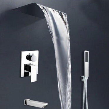 Waterfall Brushed Nickel Wall Mounted Shower System - LISA Lisa Rozin