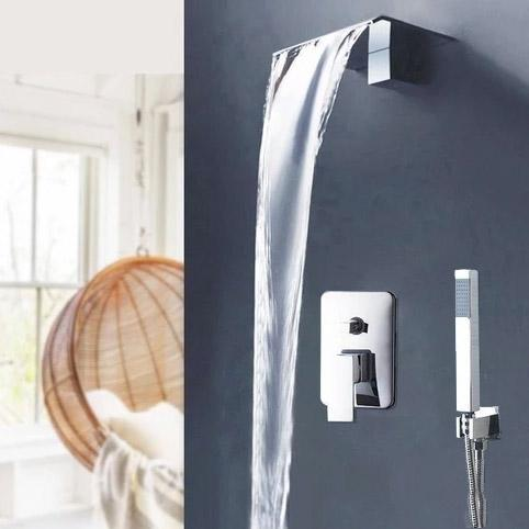 Waterfall Wall Mounted Shower System - GUENDA Guenda FLUXURIE.COM