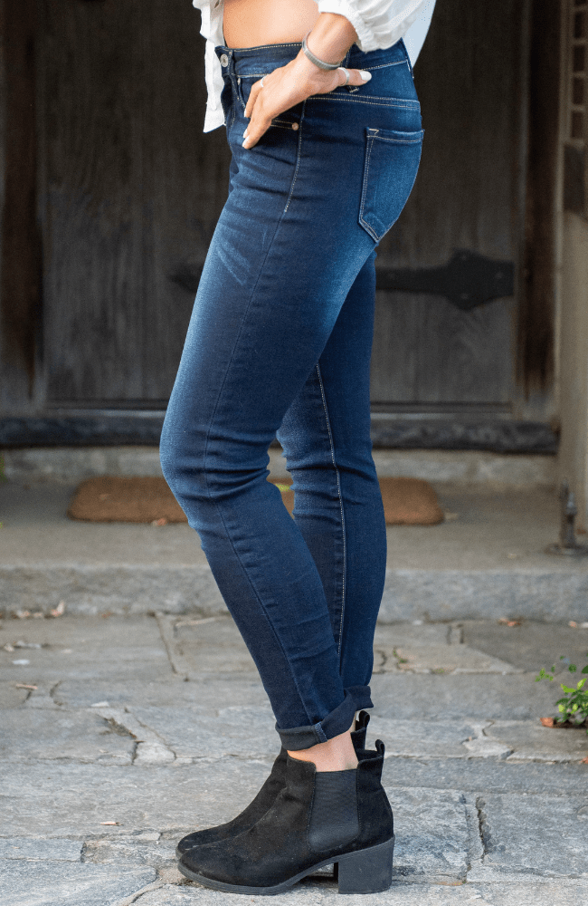 Kancan Premium Skinny Jeans - Olive Gypsy Boutique