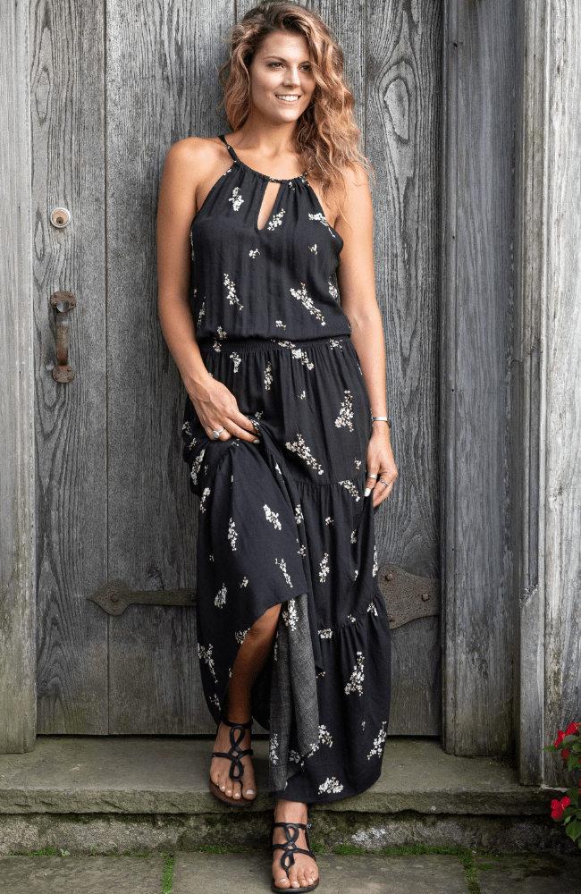 Villa Drop Waist Maxi Dress - Olive Gypsy Boutique