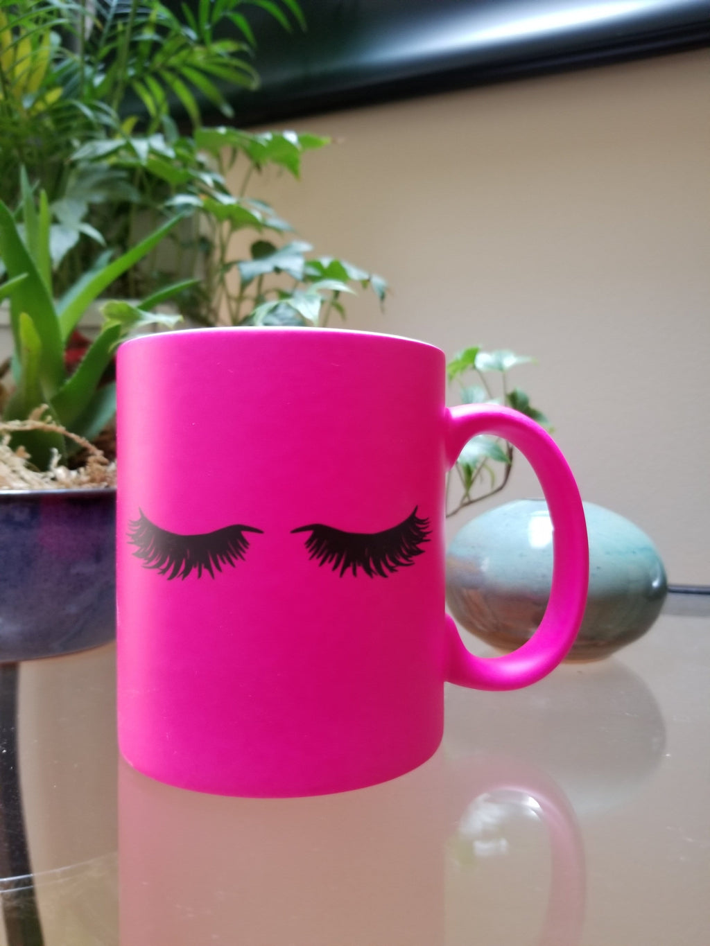 Pink Eyelashes Mug - Olive Gypsy Boutique