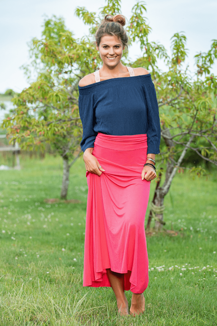 Coral Long Maxi Skirt - Olive Gypsy Boutique