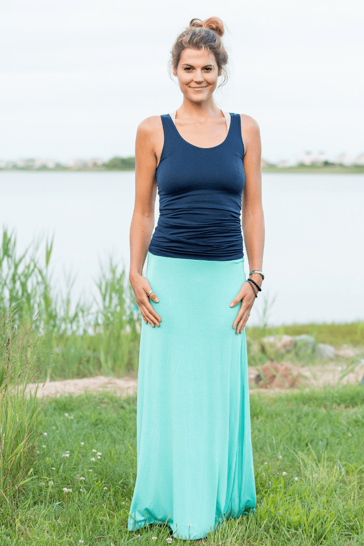 Mint Long Maxi Skirt - Olive Gypsy Boutique