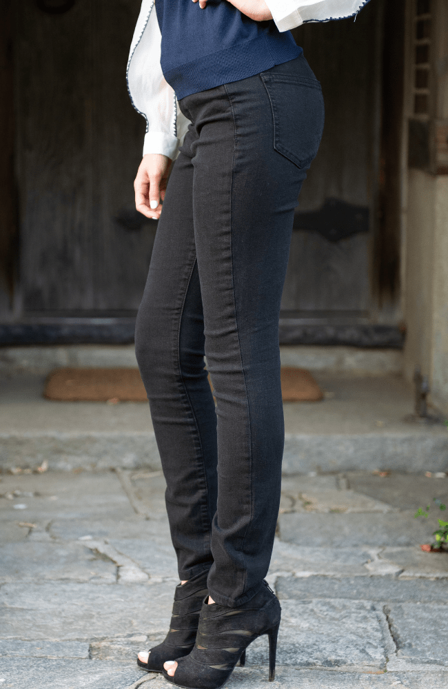 Black High Rise Skinny Jeans - Olive Gypsy Boutique