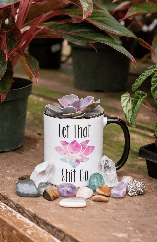Let That Shit Go Coffee Mug - Olive Gypsy Boutique