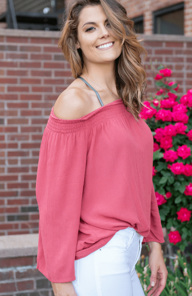 Milos off the shoulder top - Olive Gypsy Boutique