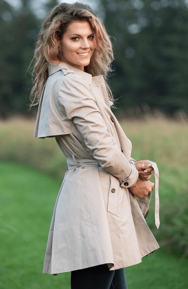 Manhattan Trench Coat - Olive Gypsy Boutique