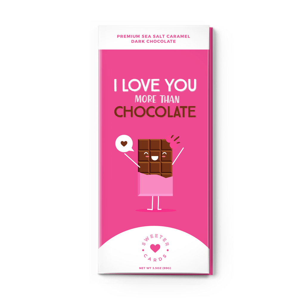 Sweeter Cards - I Love You More Than Chocolate Card - Olive Gypsy Boutique