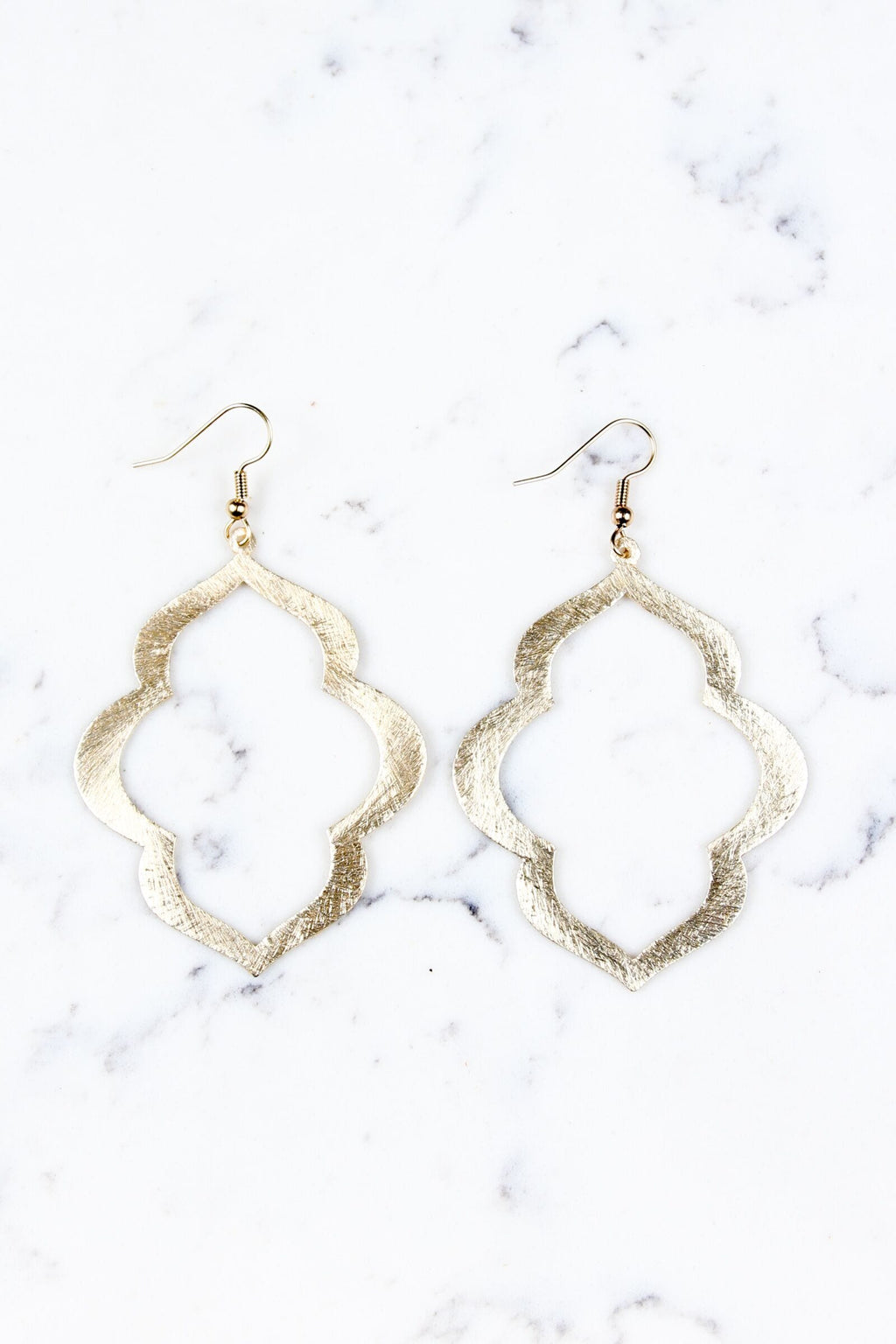 Lotus Earrings - Gold - Olive Gypsy Boutique