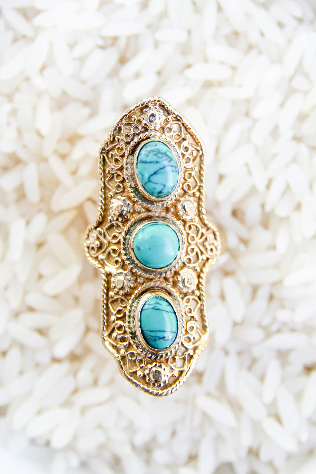 Mara Ring - Turquoise - Olive Gypsy Boutique
