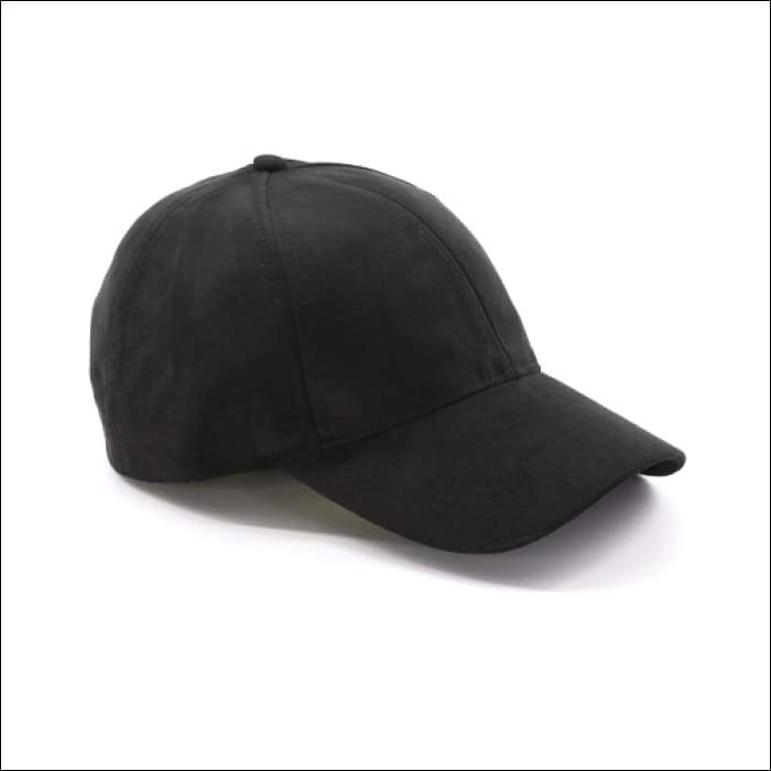 Faux Suede Baseball Cap - Black - Olive Gypsy Boutique