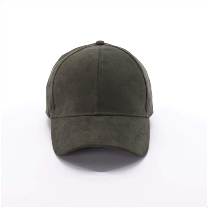 Faux Suede Baseball Cap - Olive - Olive Gypsy Boutique