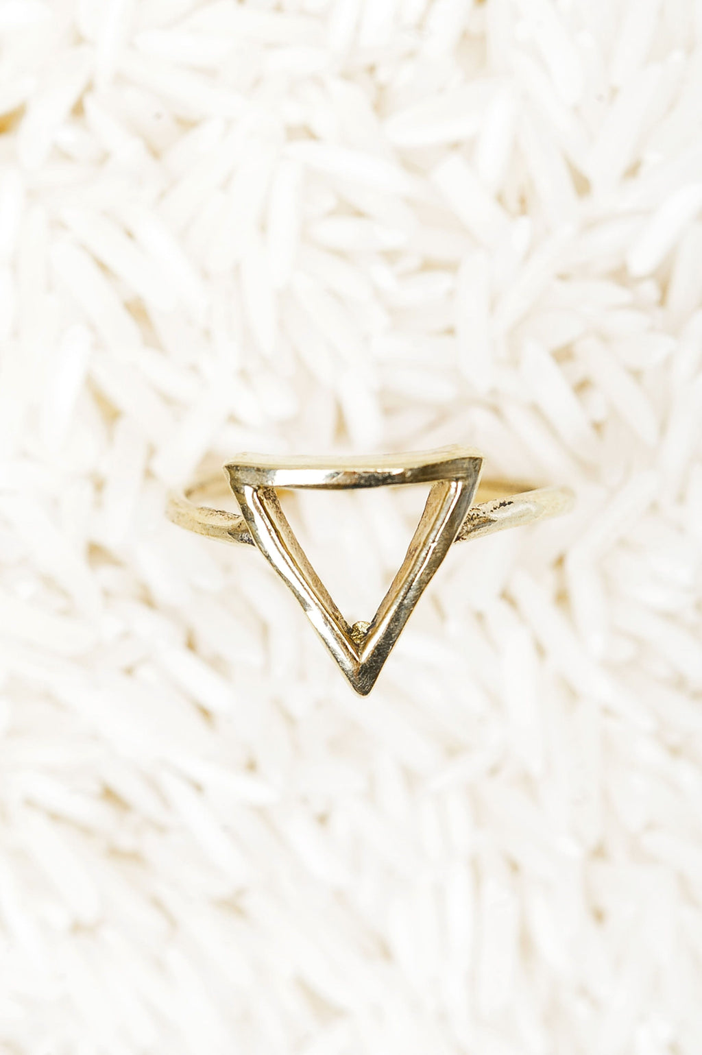 Triangle Ring Gold - Olive Gypsy Boutique
