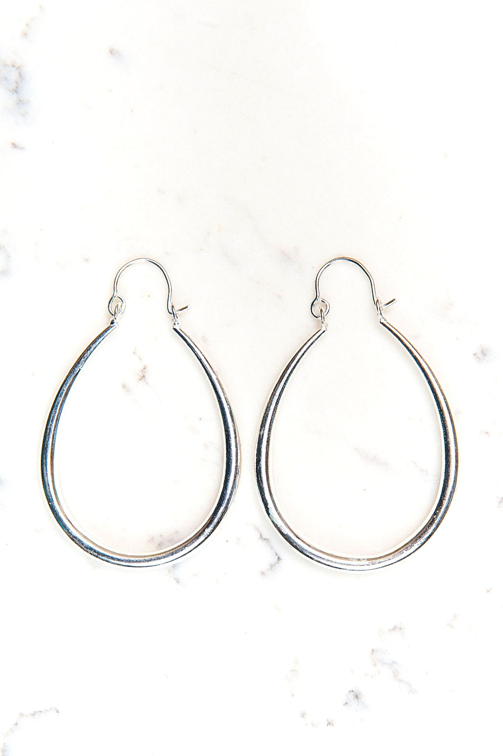 Luxe Hoop Earrings - Silver - Olive Gypsy Boutique