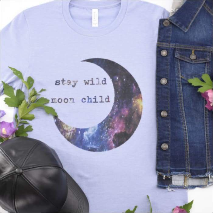 Stay Wild Moon Child T-shirt - Olive Gypsy Boutique