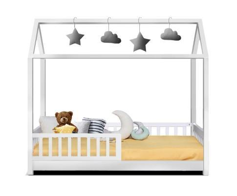 MILLY Framed White Wood Single Bed Frame Bed Frame Bedroom Factory